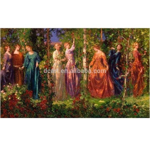 Oil painting classical people painting original fine art of newest design