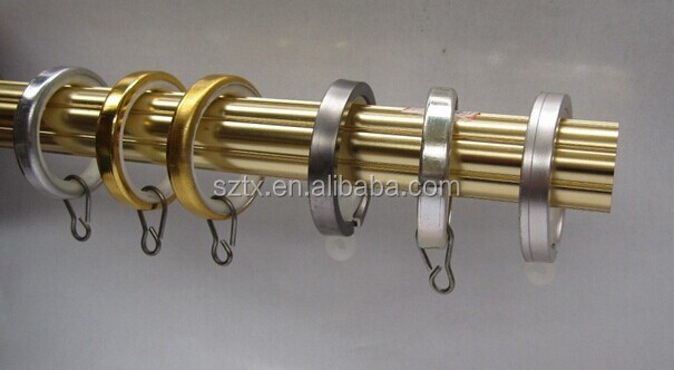 stainless steel curtain ring with hook for 28mm curtain pole