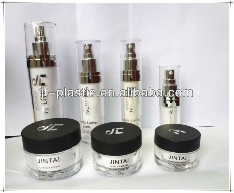 Acrylic Round Lotion Bottle For Cosmetic Packaging