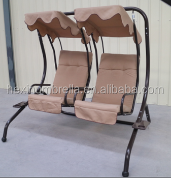 2016 Outdoor Furniture Garden Swing Chair 2 Seater Swinging Hammock Patio Cushioned Seat With Tray Buy Outdoor Swing Chair Product On Alibaba Com