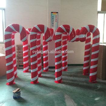 customized fiberglass candy cane statuelife size christmas decorations - Fiberglass Christmas Decorations