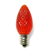 Decorative strawberry C7 E12 base faceted christmas LED light bulb