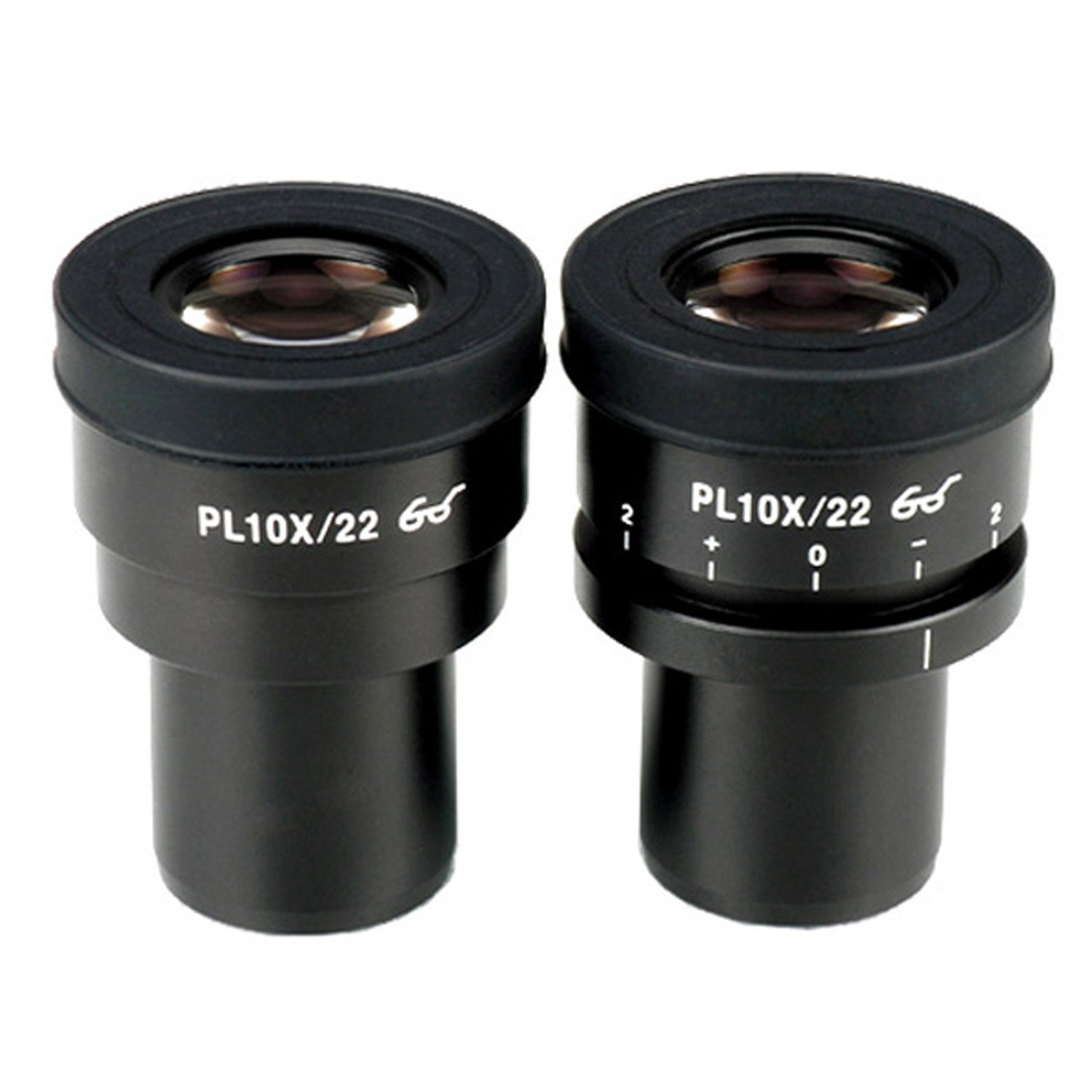 AmScope EP10X30PL 10X Focus Adjustable Plan Eyepieces for Zeiss, Leica and Nikon (30mm)