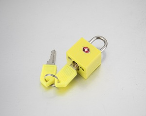 TSA 007 small brass luggage padlock TSA key lock