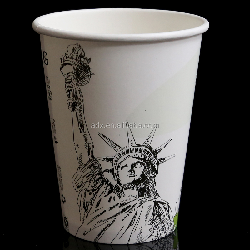 Disposable Colorful Embossed Single Wall Paper Coffee <strong>Cups</strong> With Lid