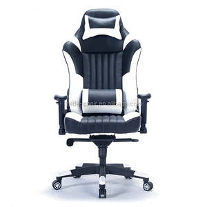 Modern PU/PVC Leather Sport Seat Office Chair Swivel White Gaming Chair