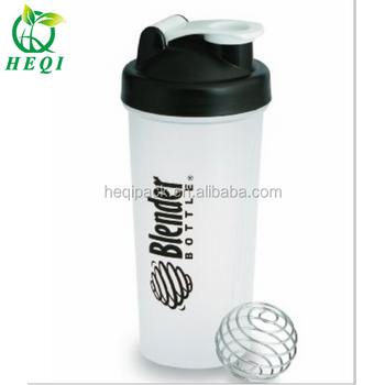 blank cheapest pp material protain shaker bottle with ss ball