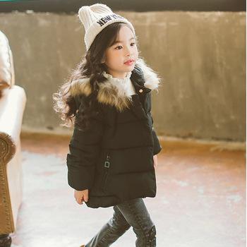 9bc743a66970 Fashion kid warm jacket baby girls winter clothing little girl long coat
