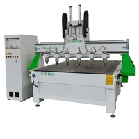 Forsun Fast Speed CNC Router Machine With 6 Spindles For Decoration 3d Woodworking
