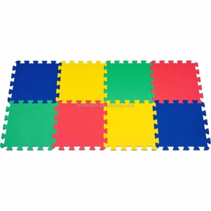 Multicolor Look Foam Mat Interlocking Eva Mat Floor Tiles Kids Play Mat 60x60cm