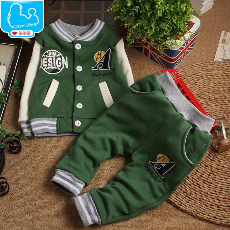 2014 новые детская одежда осень и зима костюм для мужчин и женщин 0 - 13 лет добавить толстую одежду , чтобы выйти , чтобы удовлетворить
