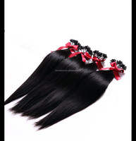Silk straight u tip hair extension u type prebounded hair