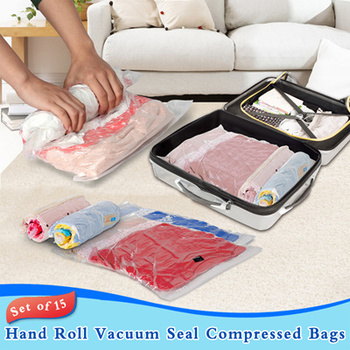 11baf66ef1f6 Travel Space Saver Bags Roll-up Compression Storage (no Vacuum Needed) &  Packing Organizers - Buy Travel Space Saver Bags,Roll-up Compression  Storage ...