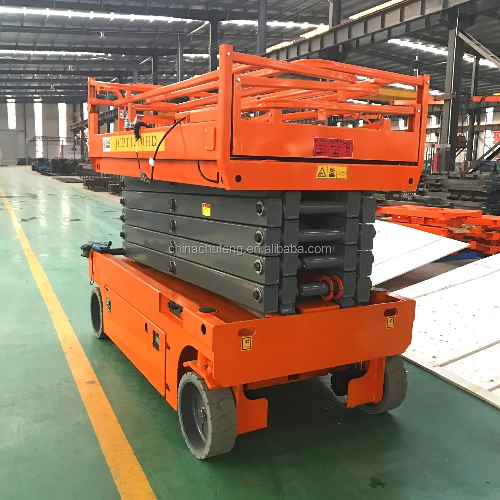 Factory Supplied 40ft 12 M Electric / Full Auto Hydraulic Scissor Lift  Aerial Platform With Ce - Buy Factory Supplied Scissor Lift,Electric  Hydraulic
