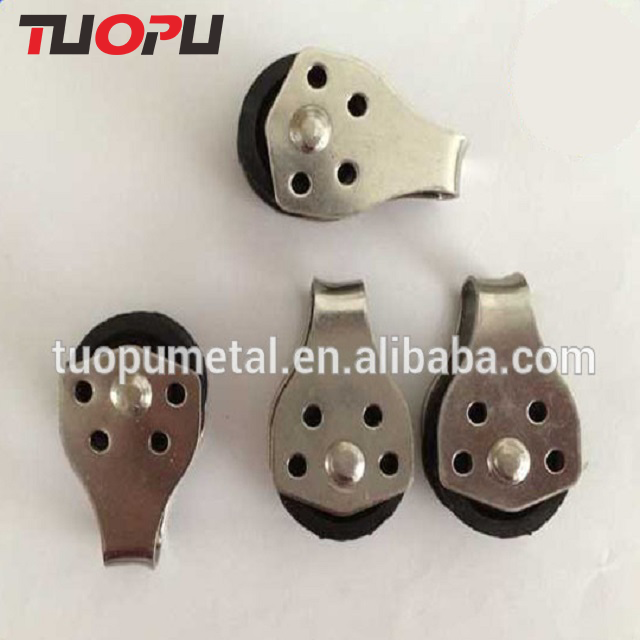 Tuopu marine small pulley stainless steel pulley wheel shandong sailing pulley with nylon sheave
