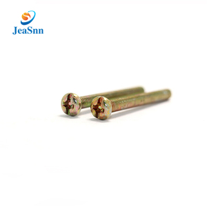 China Supplier custom made carbon steel electric appliance screws with color zinc plated