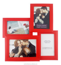 Malden International Designs Puzzle Collage Picture Frame, 4 Option, 2-4x6, 2-5x7 Red