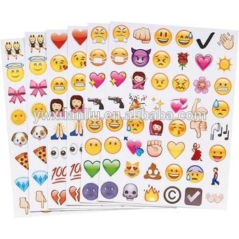Fashion bubble home stickerprint stickersiphone expression emoji smile face stickers