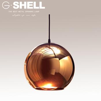 Foshan Factory Round Ball Copper Gl Pendant Lighting