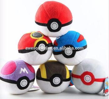 New Pokemon Pikachu Poke Ball Plush Toy Soft Stuffed Pokemon Go