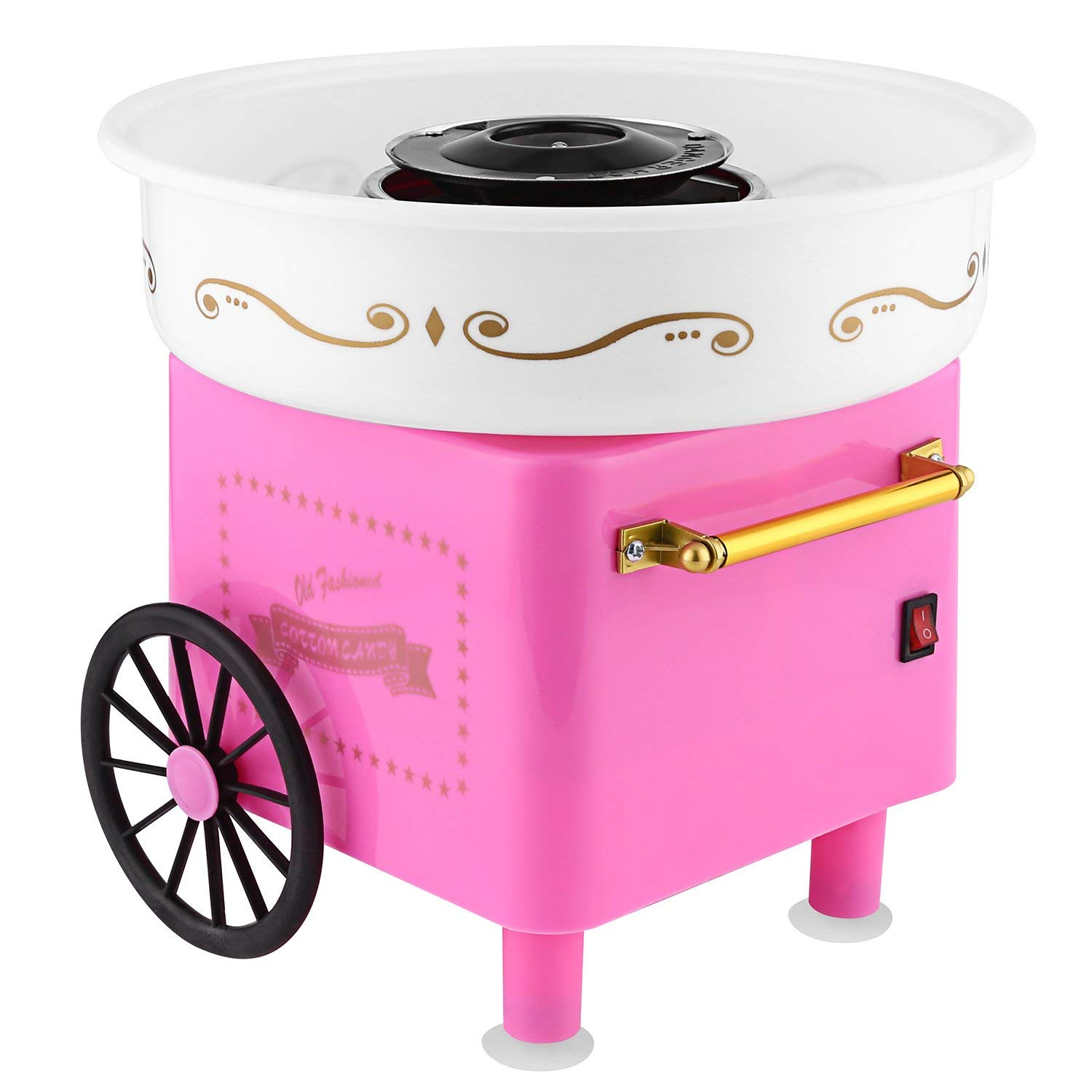 Pagacat Cotton Candy Machine,Pink Electric Sugar-Free Cotton Candy Maker for Party and Children(US Stock)