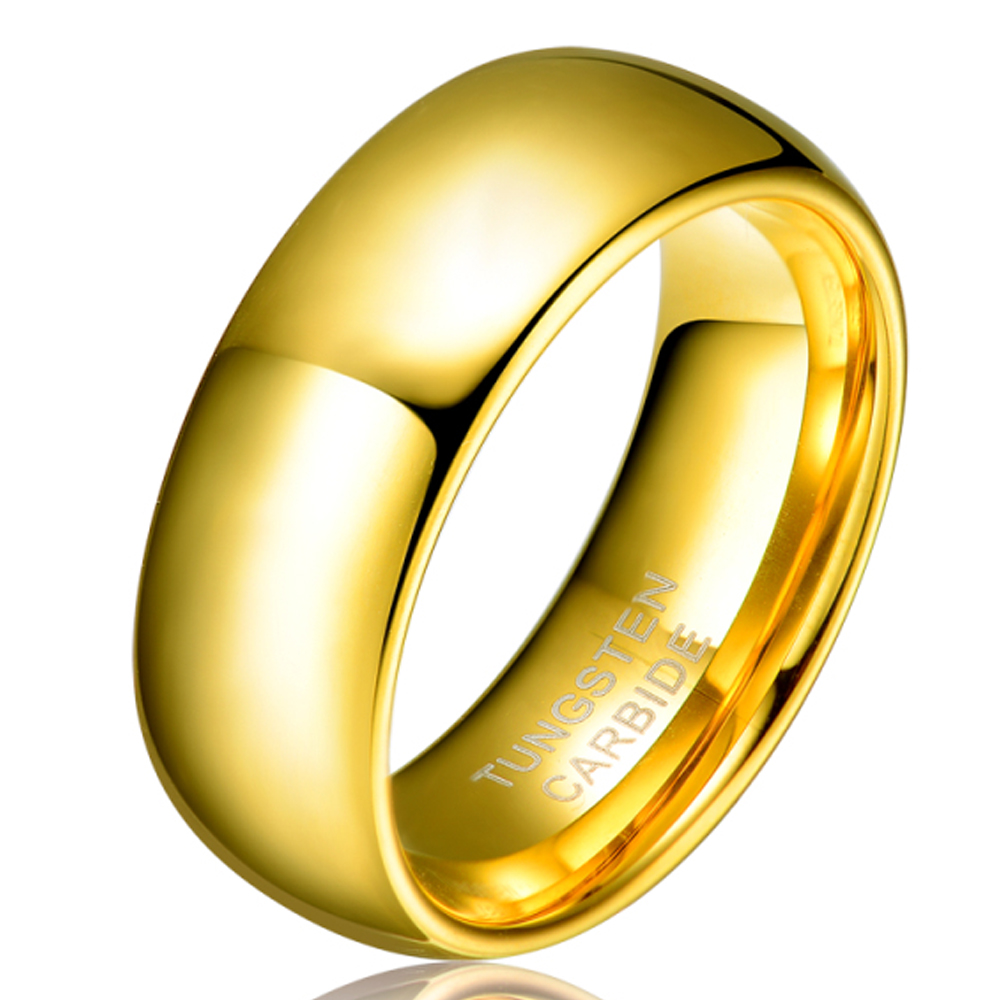 Engagement Rings No Stone: Aliexpress.com : Buy Men Women's Valentine's Gift 8mm Gold