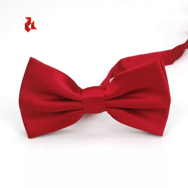 11 Colors Good Shape Bowties Mens Satin Solid Burgundy Bow Ties for Adult