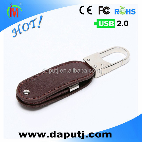 brown leather usb flash drives swivel pu leather usb stick for company brand <strong>promotions</strong> 16GB shenzhen factory usb