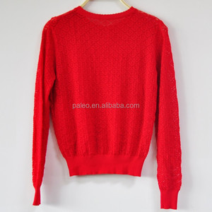 Summer Women Computer Knitted Sweater Red Sexy Sweaters