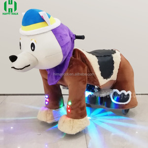 HI lighting kids riding motorized stuffed electric animal scooters for sale