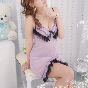 Europe girls baby doll hot lingerie sexy open