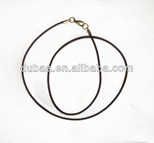 Round 2mm Leather Cord with Bronze Color Clasps for Pendant Necklace,Jewelry Accessories