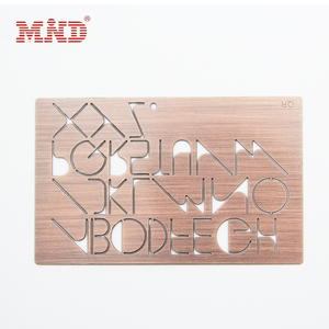 Hot sell membership metal card/ stainless steel cards