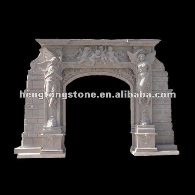 White Marble Arch Door Surround