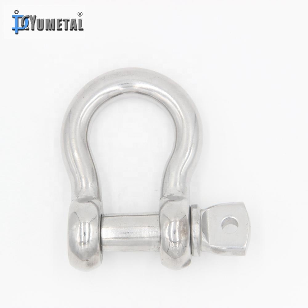 PACKAGING! 8mm A4-AISI 316 Stainless Steel Wide Jaw D Shackle FREE POSTAGE