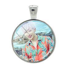JWEIJIAO K-POP Monsta X Подвески с родиевым покрытием металлический стеклянный купол фото для ожерелья брелоки Аксессуары MN31(Китай)