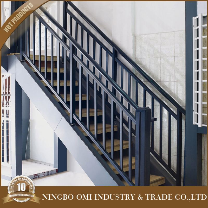 Exterior metal handrails for stairs