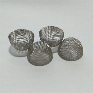 Food grade stainless steel dome shape smoking pipe filter / tobacco pipe screen
