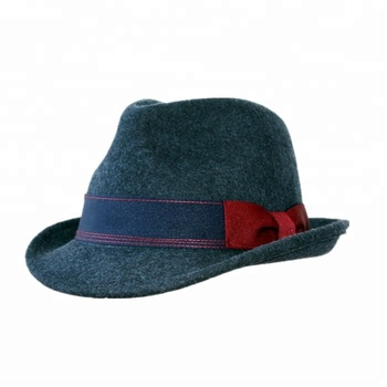 8f6254e604d05 Men Mix Navy Usual Life Wool Felt Fedora Hat With Bow Trim - Buy ...