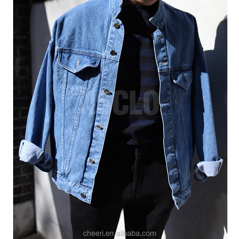 Best Selling New Design Button Front Closure Wholesale Denim Jacket