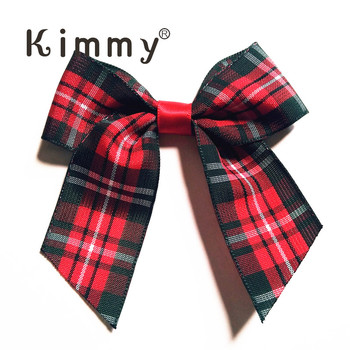 Pte tied Country Tartan Ribbon Wedding Bow Decoration Gift Box Craft Bow Stationery Bow