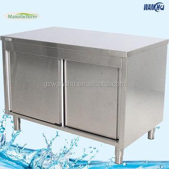 Ss201 304 Kitchen Bench Cabinet Stainless Steel Kitchen Island