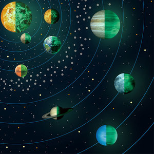 Wholesale photoluminescent Glow in The Dark Stars and Planets Wall Stickers  paper for baby Kids Bedroom Living Room