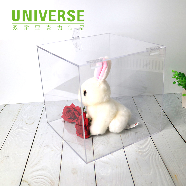 UNIVERSE custom clear fashion acrylic Toy or food storage box with lock and key