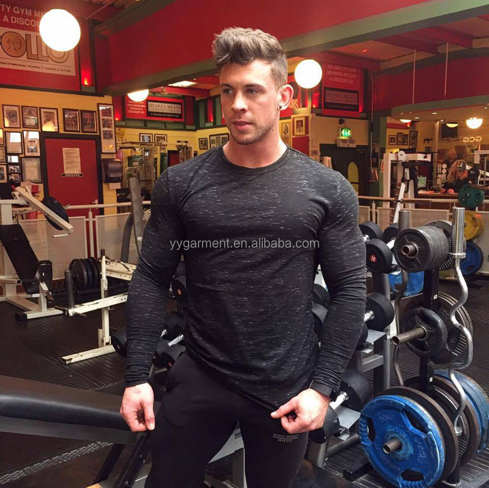 Custom Gym Wear Apparel Fitness Long sleeves Gym Shirt