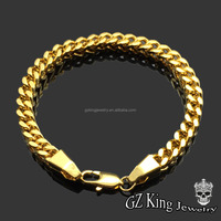 2017 fashion stainless steel 6mm mens Franco bracelet 18k gold franco chain necklace