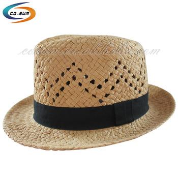 cosum brand cheap cowboy hat promotional men cap cheap straw cowboy mexico  hat feb65720ab7
