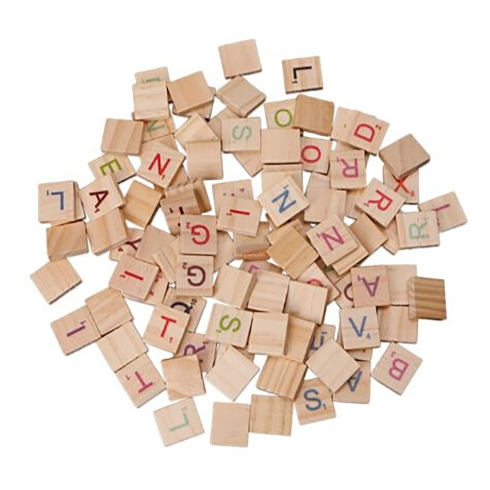 MUQGEW 100X Wooden Scrabble Tiles Colorful Letters Numbers For Crafts Wood Alphabet Toy toys for girls children