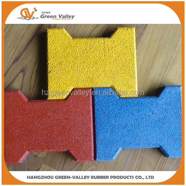 Anti-shock Dog-bone Rubber Brick For Playground