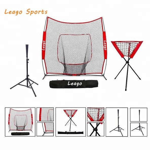 '*' Honkbal Softbal Praktijk Netto Batting Net & Bal Caddy Baseball Houder & Batting Tee